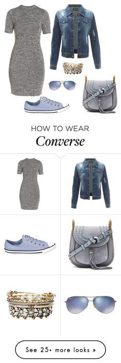 """Untitled #1155"" by kayla250 on Polyvore featuring French Connection, Converse, Charlotte Russe, Chloé and Ray-Ban"