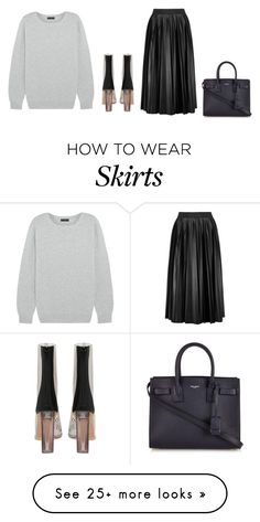"""""""Untitled #4130"""" by michelanna on Polyvore featuring J.Crew, Lanvin and Yves Saint Laurent"""