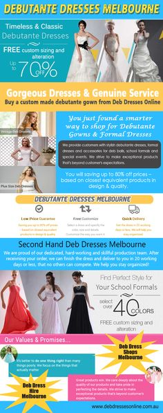 Check this link right here http://www.debdressesonline.com.au/ for more information on Deb Dress Shops Melbourne. Deb Dresses are quite revealing and have a sexy look. Different kinds of Deb Dress Shops Melbourne are available in the market. Not only can you find variety in styles and designs, you can also find variety in size, color and material when choosing your Dresses from an online shop. Follow Us: http://intensedebate.com/profiles/debdressesgeelong