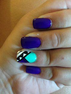 Nails! Blue-Etnico! Convinacion Perfecta!! Loveuu!!