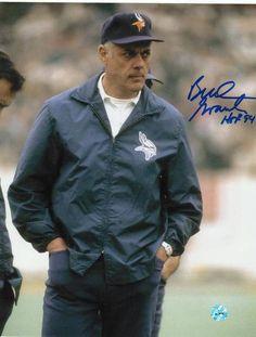 "Bud Grant Minnesota Vikings Autographed 8x10 Photo Inscribed """"HOF 94"""" -Coaching-"