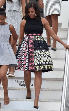 <p>Obama is all about the power of education (and a wrap dress) in kicking off the Better Make Room campaign, part of her Reach Higher initiative.</p>