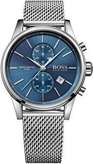 Hugo Boss Herren Armbanduhr 1513441 Mesh Stahl Blau Armbanduhr Boss Uhren Uhren