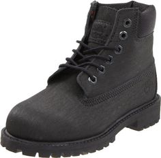 Timberland Scuffproof Lace-Up Boot (Toddler/Little Kid/Big Kid) Timberland. $70.00. Rubber lug outsole for durability. Ethylene vinyl acetate footbed for shock absorption. Rubber sole. Textile Lining for comfort. Waterproof leather provides protection from abrasion. leather
