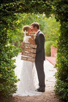 Happily Ever After Wedding Day Photo Idea!  More Awesome Wedding Photos at www.knotweddingday.com