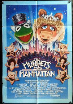 Muppets Take Manhattan - 1984 - original, theater used one-sheet movie poster.    Original movie poster from Muppets Take Manhattan, the 1984 Comedy