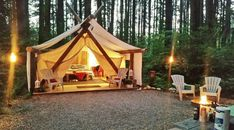 """""""Glamping"""" spots in BC Double Shower Heads, Riverside Resort, Portable Tent, Wilderness Resort, 7 Places, Luxury Camping, Vacation Resorts, Short Trip, Getting Cozy"""
