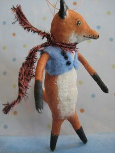 FOX Spun Cotton Ornament by Maria Pahls