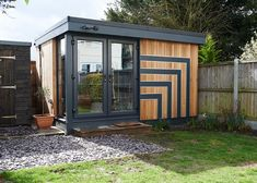45 Modern Outdoor Home Office Sheds 30 Studio Shed, Garden Studio, Garden Office, Home Office, Garden Cabins, Box Houses, Treatment Rooms, Garden Buildings, House Extensions