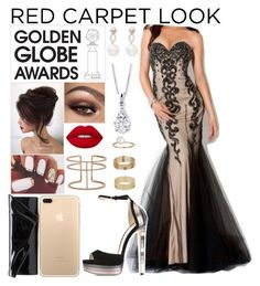 """""""Golden Globe Awards [4]"""" by babedirectionerx ❤ liked on Polyvore featuring Jimmy Choo, Christian Louboutin, Inner Circle Jewelry, APM Monaco, Miss Selfridge and goldengawards"""