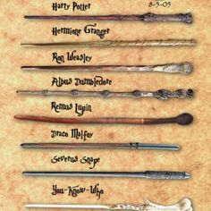 Harry Potter wands <3