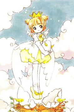 Manga and Anime /Card Captor Sakura/ Sakura Kinomoto/ Prethoughts: Difficulty: Making the fabric sit and bussal over the back area will be tricky. Cardcaptor Sakura, Sakura Card Captor, Syaoran, Sakura Sakura, Manga Anime, Anime Art, Roald Dahl, Yandere, Chibi