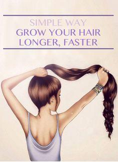 Simple Ways to Grow Longer Hair