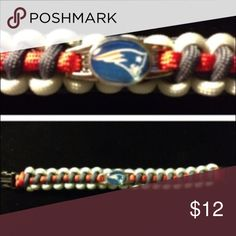 New England Patriots Paracord Bracelet 14 year old Nathan has been making Paracord accessories since he was just 9 years old. This is a beautifully crafted bracelet with your favorite team's logo on the charm. Accessories Jewelry
