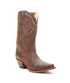 Tony Lama    Vaquero Rancho Cowgirl Boot  Don't settle for just any Western boot...get one that stands out for its rich color and remarkable quality, with this Tony Lama Vaquero Chocolate Rancho Cowgirl Boot.    Pointed toed  2.5 inch heel  11 inch shaft  Leather outsole  Leather upper