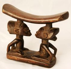 Africa | Headrest from the Luba people of DR Congo | Wood | ca. 1940s