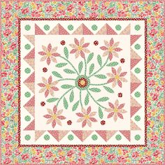 A free pattern called Pretty in Pink from Nancy Mahoney. Nancy will teach for QM in Williamsburg Aug. 2-4 at Quiltmaker's Block Party. We'd love for you to join us!