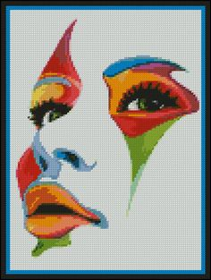 Face Of Deception Counted Needle Point and by PaulaHowardPatterns