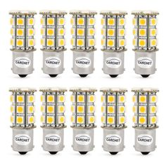 18.49$  Buy now - http://aliurk.shopchina.info/go.php?t=32660458618 - CARCHET 10pcs 1156 1141 1073 BA15S 27SMD 5050 LED Bulb Interior RV for Camper Trailer Interior Lights Car Boats Turn Signal Blub 18.49$ #aliexpress