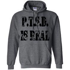 PTSD IS REAL - Pullover Hoodie 8 oz