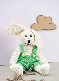 Lenny The Bunny in Rico Creative Cotton Aran. Discover more Patterns by Rico at…