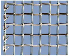 A piece of flat wire conveyor belt with clinched edge