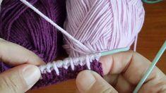 İki Renkli Zikzak Örgü Modeli Knitting Basics, Knitting Blogs, Knitting Designs, Chevron Afghan, Crochet Stitches, Tunisian Crochet, Lana, Knitting Patterns, Hair Accessories