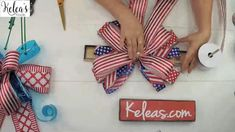 Learn how to make the perfect patriotic bows for summer holidays - and snag all the ribbon you need for your bows! Tool Wreath, Spring Decorations, Patriotic Crafts, Floral Supplies, Spring Wreaths, Summer Fruit, How To Make Wreaths, School Design, Christmas Holidays