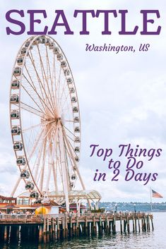 Top Things to Do in Seattle in 2 Days - USA Destinations Seattle Travel Guide, Seattle Vacation, Vacation Ideas, Washington Things To Do, Seattle Washington, Washington State, Romantic Places, Romantic Travel, Best Honeymoon Destinations