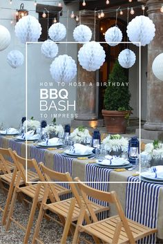Today I'm revealing all my secrets on how to host a birthday BBQ bash to impress. I'm sharing all the recipes and resource links too! Birthday Bbq, Backyard Birthday, Outdoor Birthday, Blue Birthday, Backyard Bbq, Birthday Parties, Picnic Parties, Barbecue Party, Gingham Party
