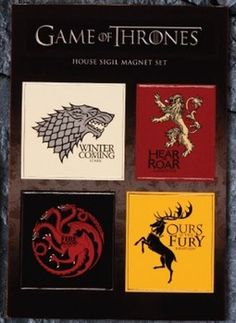 Loot Crate is a monthly service in which you receive geek-friendly merchandise at a discount, grouped around a particular theme. The second Games of Thrones item for the Fantasy theme includes a set of magnets. More magnets.