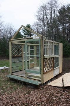 Christina from After Dinner Design has been collecting antique windows in anticipation of a green house of her dreams