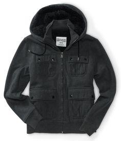 Aero Skate Faux Fur Hooded Jacket