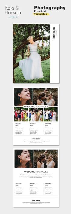 8 best Photography pricing templates images on Pinterest - Price Sheet Template