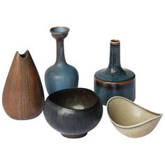 Five Pieces by Nylund and Stalhane for Rorstrand Sweden | From a unique collection of antique and modern ceramics at https://www.1stdibs.com/furniture/dining-entertaining/ceramics/