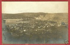 Boyne City, Michigan Real photo of town, maybe back when gram was being raised there? Boyne City, Photo Postcards, All Over The World, Vintage Photos, Michigan, Sweet, Painting, Candy, Painting Art