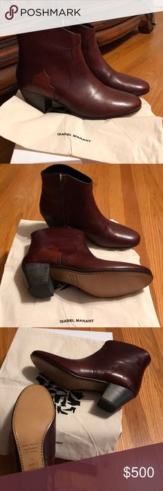 f1f87c4866e5 Isabel Marant Dicker boot in Burgundy New Isabel Marant boots never worn,  include box and dust bag Isabel Marant Shoes Ankle Boots & Booties