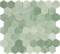 Kitchen Bathroom Hexagon Mint Green Gold Specks Polished Marble Mosaic Tile | eBay