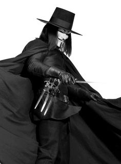 V for Vendetta Costume - Love it V For Vendetta Film, V For Vendetta Costume, V Pour Vendetta, Ideas Are Bulletproof, The Fifth Of November, Hugo Weaving, Dc Comics, Guy Fawkes, Cosplay