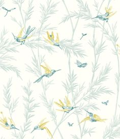 G P & J Baker Waters Edge Teal/ Lime Pale Turquoise Wallpaper main image Bedroom Wallpaper Accent Wall, Turquoise Wallpaper, Mulberry Home, Luxury Wallpaper, Project Nursery, Wall Treatments, Indigo, Lime, Home Decor