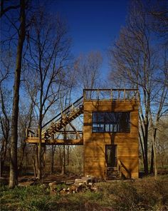 Art Studio in the Woods by David Genc in Aurora, Illinois. Photograph by Studio Thomas.
