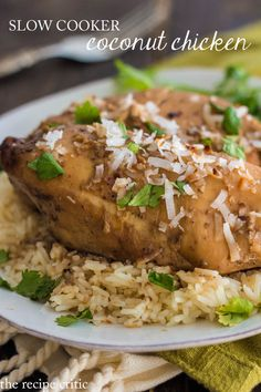 Slow Cooker Coconut Chicken at http://therecipecritic.com