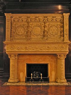 castle fireplaces | Grey Towers Castle (1893) – carved marble fireplace | Flickr - Photo ...