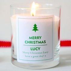 Personalised Christmas tree scented candle #interiors #festive #decoration #thepersonalisedgiftshop £14.99