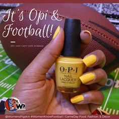 GameDay nails using #OPINAILSUK Get to know the game! @WomensPigskin #WomenKnowFootball game, food, fashion, and decor. #OPI #GameDayNails #nails #football #chargers #herewego #steelers #httr #jaguars #gopackgo #nfl #collegefootball #footballmom