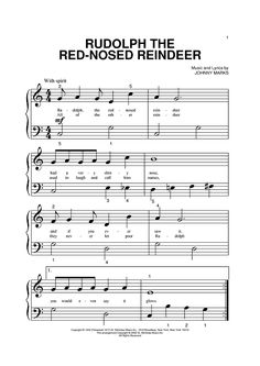 Rudolph The Red-Nosed Reindeer Sheet Music Preview Page 1