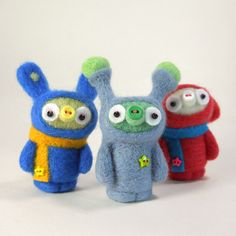 Check out these super cute felted critters from Kit Lane!