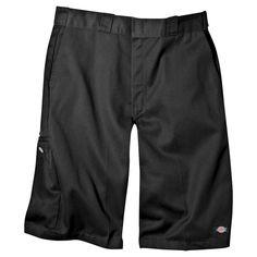 Dickies Men's Big & Tall Loose Fit Twill 13 Multi-Pocket Work Short- Black 56