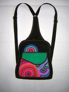 Rainbow Mini Backpack Small guitar Women's Rucksack by mocsi61