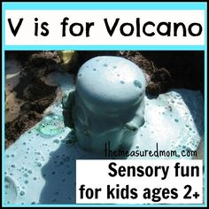 Make your own volcano: Sensory fun for the Letter V - The Measured Mom